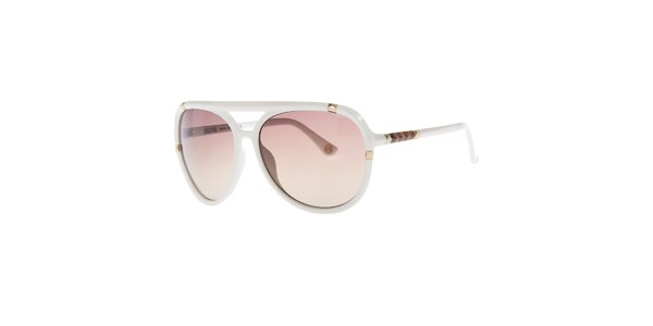 Dámské bílé sluneční brýle s jemným gradientním efektem Michael Kors