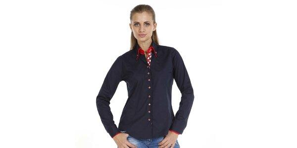 Dámská tmavomodrá bavlněná košile Pontto