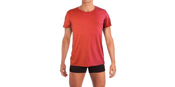 Pánské rumělkově červené tričko Mosmann