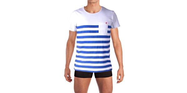 Pánské pruhované tričko s kapsičkou Mosmann