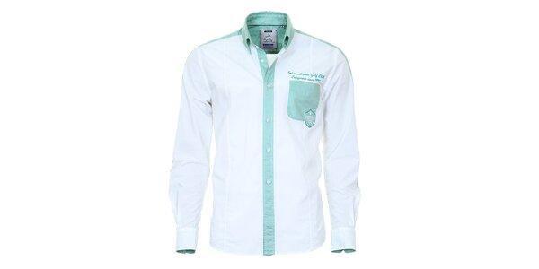 Pánská košile s tyrkysovými detaily Pontto