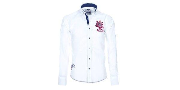 Pánská bílá bavlněná košile Pontto