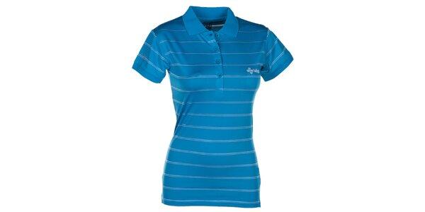Dámské modré pruhované polo tričko Kilpi