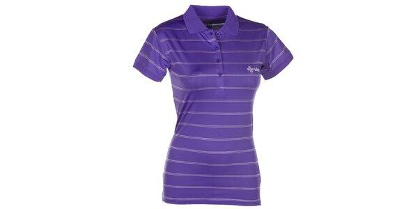 Dámské fialové pruhované polo tričko Kilpi
