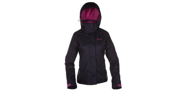 Dámská černá outdoorová bunda s kapucí Kilpi