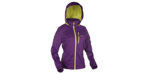 Dámská fialová softshellová bunda s kapucí Kilpi