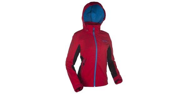 Dámská softshellová červená bunda s kapucí Kilpi