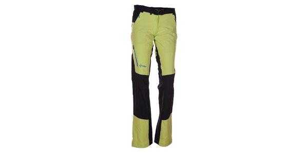 Dámské zeleno-černé outdoorové kalhoty Kilpi