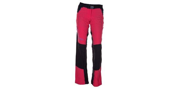 Dámské růžovo-černé outdoorové kalhoty Kilpi