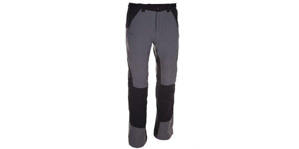 Pánské šedo-černé kalhoty Kilpi