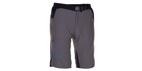 Pánské šedo-černé technické šortky Kilpi