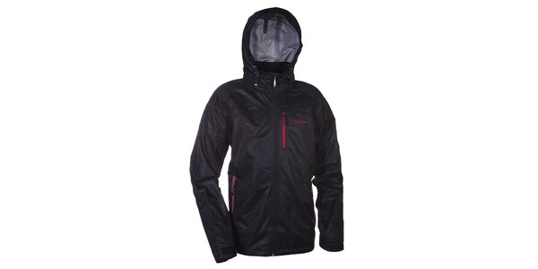 Pánská černá bunda s kapucí Kilpi