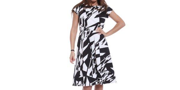 Dámské černobílé šaty Oriana