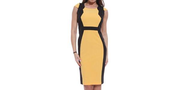 Dámské žluto-černé šaty Oriana
