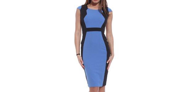 Dámské modro-černé šaty Oriana