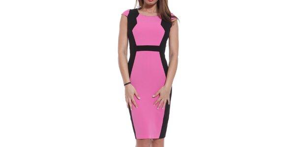 Dámské růžovo-černé šaty Oriana