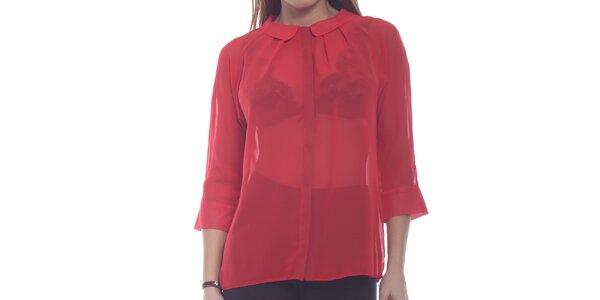 Dámský červený průsvitný top Oriana