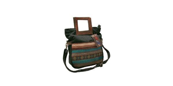 Dámská barevná kabelka Red Hot s tmavou džínovinou