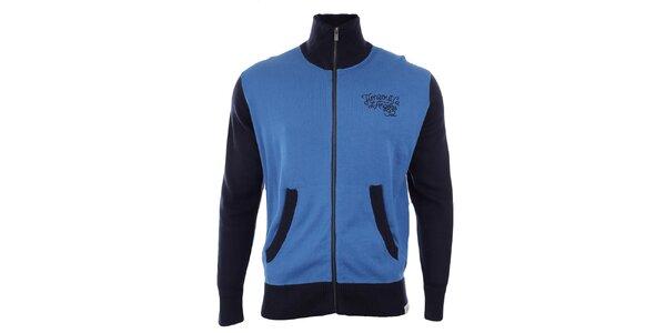 Pánský svetr s tmavě modrými rukávy Timeout