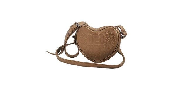 Dámská bronzová kabelka Red Hot ve tvaru srdce