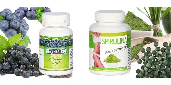 Sada na podporu hubnutí a imunity Resveratrol a Spirulina