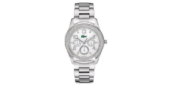 Dámské ocelové hodinky s kamínky Lacoste