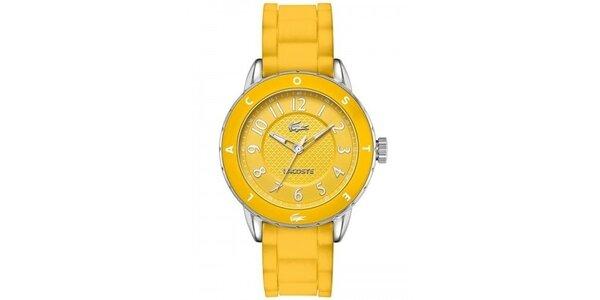 Dámské sytě žluté hodinky Lacoste