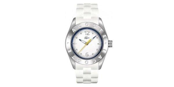 Dámské ocelové hodinky se silikonovým páskem Lacoste