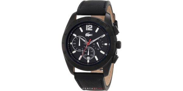Pánské černé hodinky Lacoste
