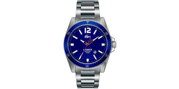 Pánské hodinky s modrým ciferníkem Lacoste