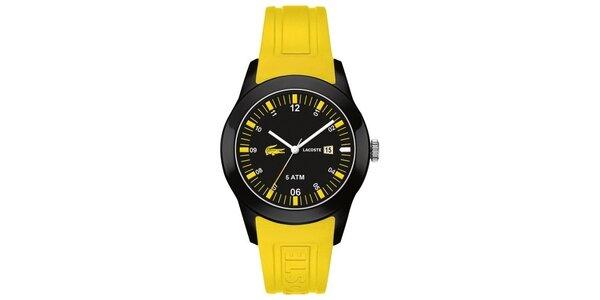 Pánské žluto-černé hodinky Lacoste