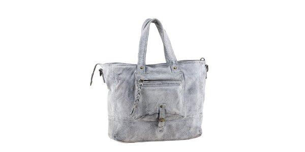Dámská šedá kabelka s kapsou Amylee