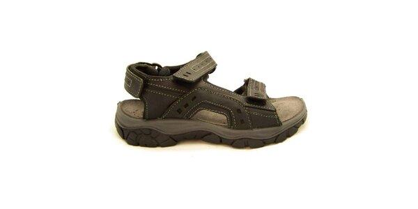 Pánské černé trekové sandály Numero Uno