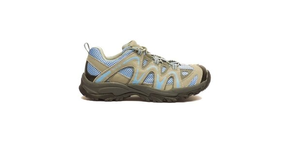 Dámské béžovo-modré trekové boty Numero Uno