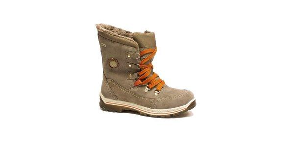 Dámské béžové šněrovací boty Numero Uno