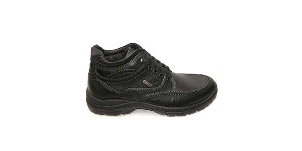 Pánské černé zimní kotníkové boty Numero Uno