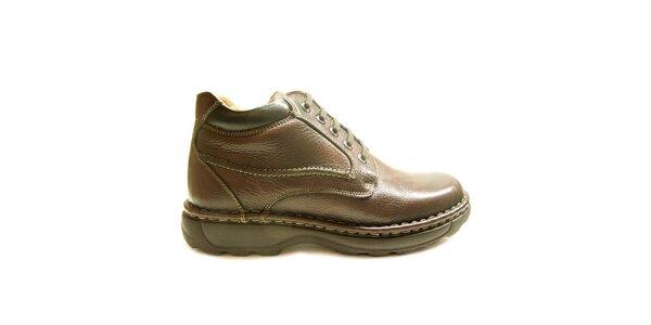 Pánské hnědé zimní kotníkové boty Numero Uno