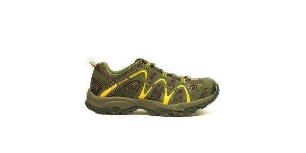 Pánské khaki-žluté sportovní boty Numero Uno