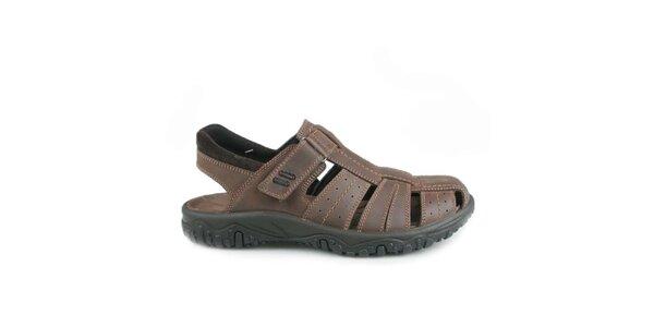 Pánské tmavě hnědé sandály Numero Uno