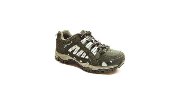 Dámské šedo-bílé trekové boty Numero Uno