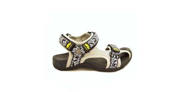 Dámské bílé sandály s pásky na suchý zip Numero Uno