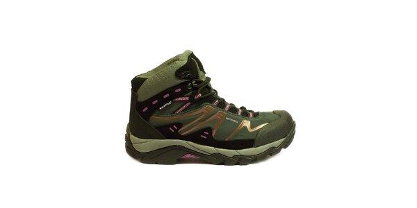 Dámské trekové kotníkové boty s růžovým motivem Numero Uno