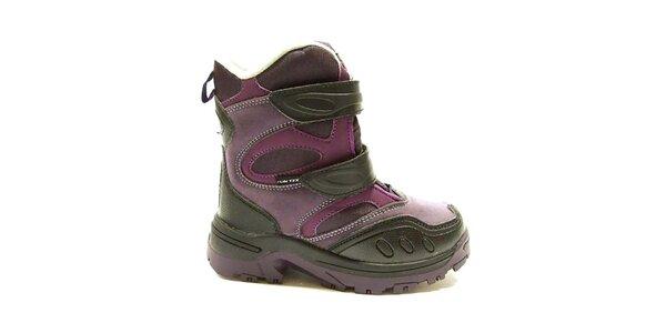 Dětské fialové zimní boty Numero Uno