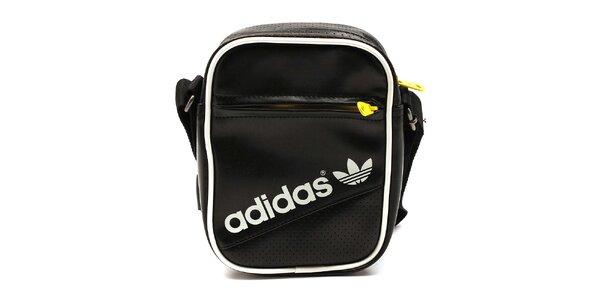 Černá taška se žlutými zipy Adidas