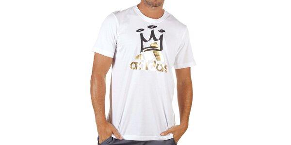 Pánské bílé tričko s potiskem Adidas