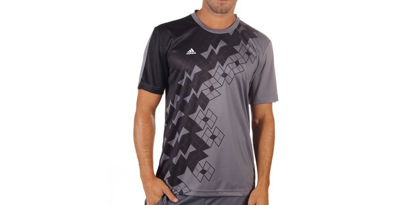 Pánské šedé tričko s krátkým rukávem Adidas