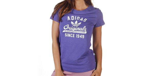 Dámské fialové tričko s krátkým rukávem Adidas
