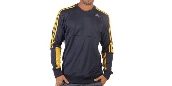 Pánská modro-žlutá sportovní mikina Adidas