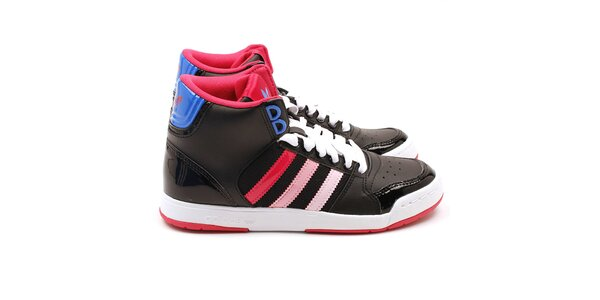 Dámské kotníkové tenisky s růžovými prvky Adidas