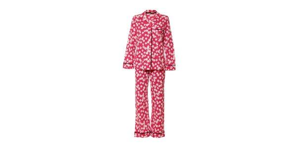 Dámské pyžamo značky DKNY v růžové barvě s puntíky